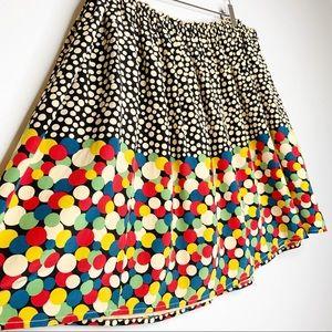 Anthro Corey Lynn Calter Polka Dot Silk Skirt FLAW